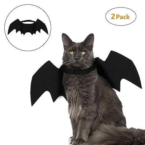BETTERLE Better - 2 alas de Bate para Gatos, para Halloween, Perros, Bate
