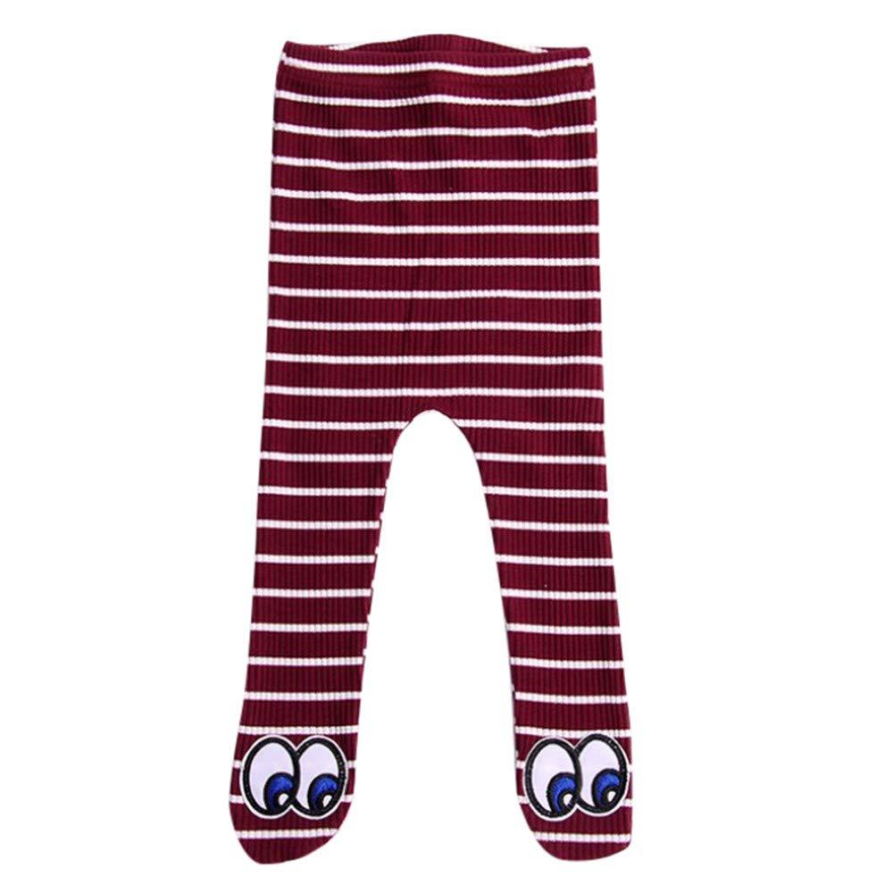 Anglewolf Baby Cotton Tights Kids Socks Pants Girl Leggings Stocking Winter Pantyhose Newborn Elastic Striped Big Eyes Panty-Hose Warm Stockings