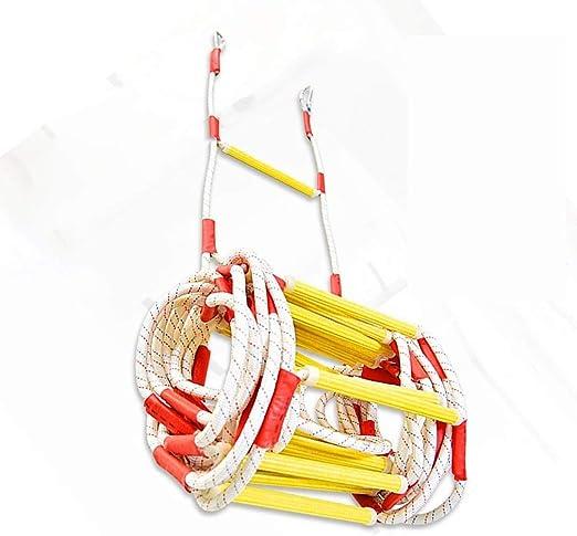Escalera de emergencia, resistente a la llama escalera de evacuación de emergencia de seguridad contra incendios Con Carabins gancho for niños y adultos, 2-3 historia del rescate del fuego Escalera: Amazon.es: Hogar