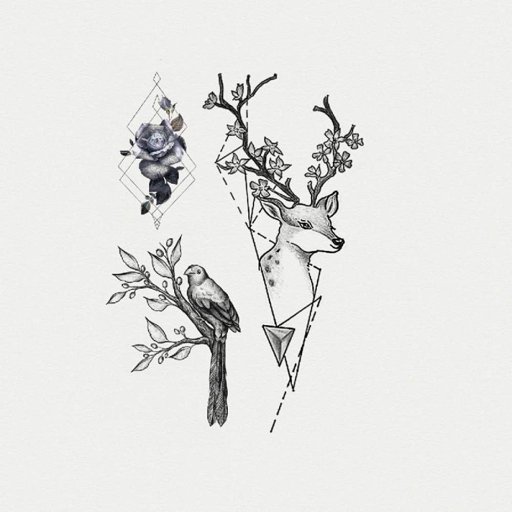 Etiquetas engomadas impermeables del tatuaje de la flor ...
