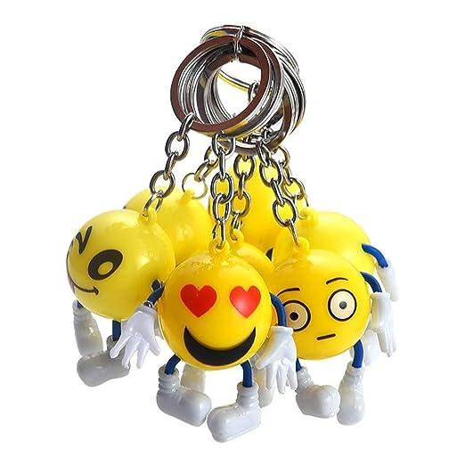 Yeying Llavero Robusto 12 Piezas de llaveros Emoji, Mini ...