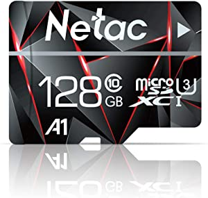 32GB Micro SD Card, Netac Memory Card MicroSD High Speed Transfer A1 C10 U1 MicroSDHC TF Card for Cemera/Phone/Nintendo-Switch/Galaxy/Drone/Dash Cam/GOPRO/Tablet/PC/Computer with Adapter