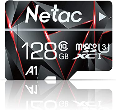128GB Micro SD Card, Netac Memory Card MicroSD High Speed Transfer A1 C10 U3 MicroSDXC TF Card for Cemera/Phone/Nintendo-Switch/Galaxy/Drone/Dash ...