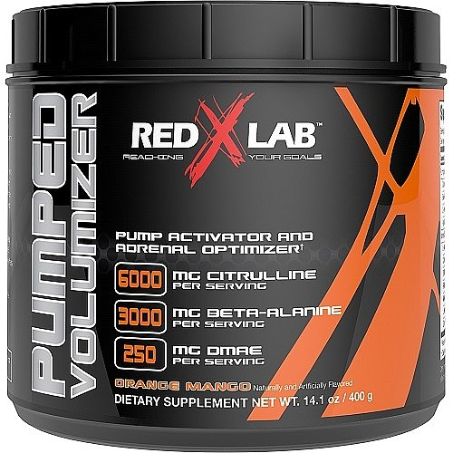 Red X Lab Pumped Volumizer Orange Mango 21 Servings