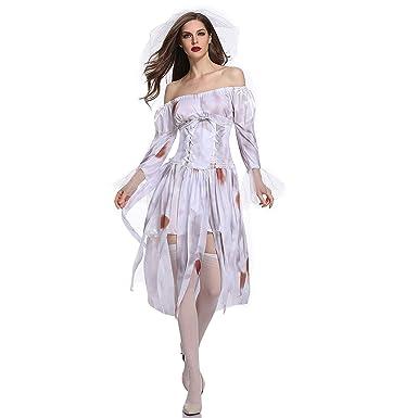 Disfraz de Mujer,Vestido De Novia Fantasma De Halloween ...