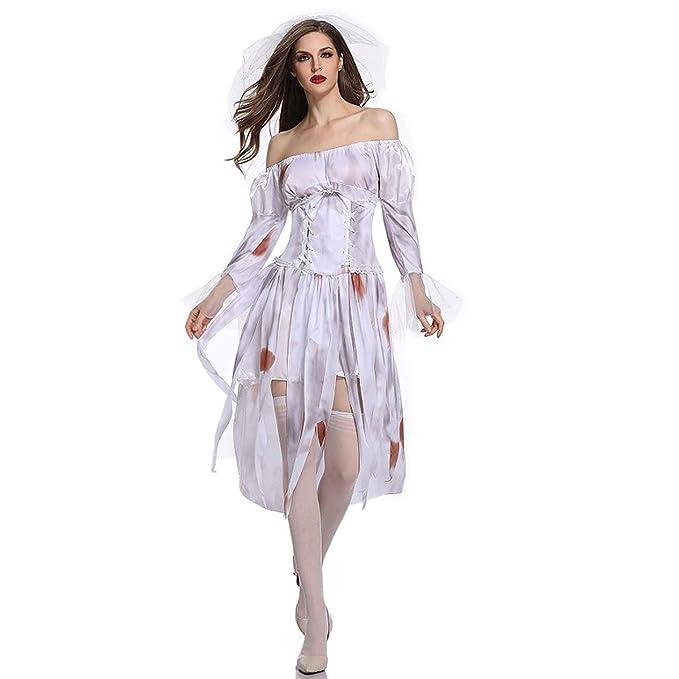 Disfraz de Mujer, Vestido De Novia Fantasma De Halloween ...