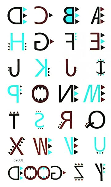 Amazon Com Spestyle New And Fashion Design 26 English Letters And