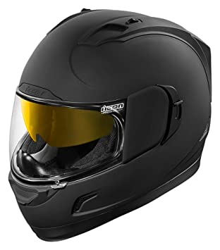 Icon Alliance Gt Rub - Casco de moto, color negro