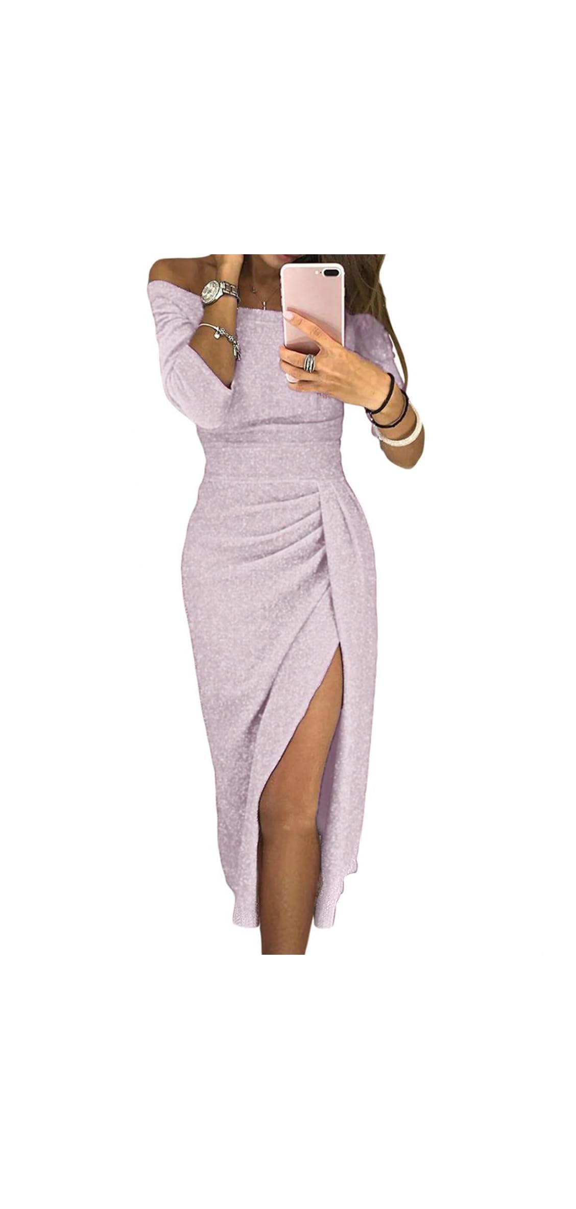 Evening Dresses For Women Formal Off Shoulder Prom Patry