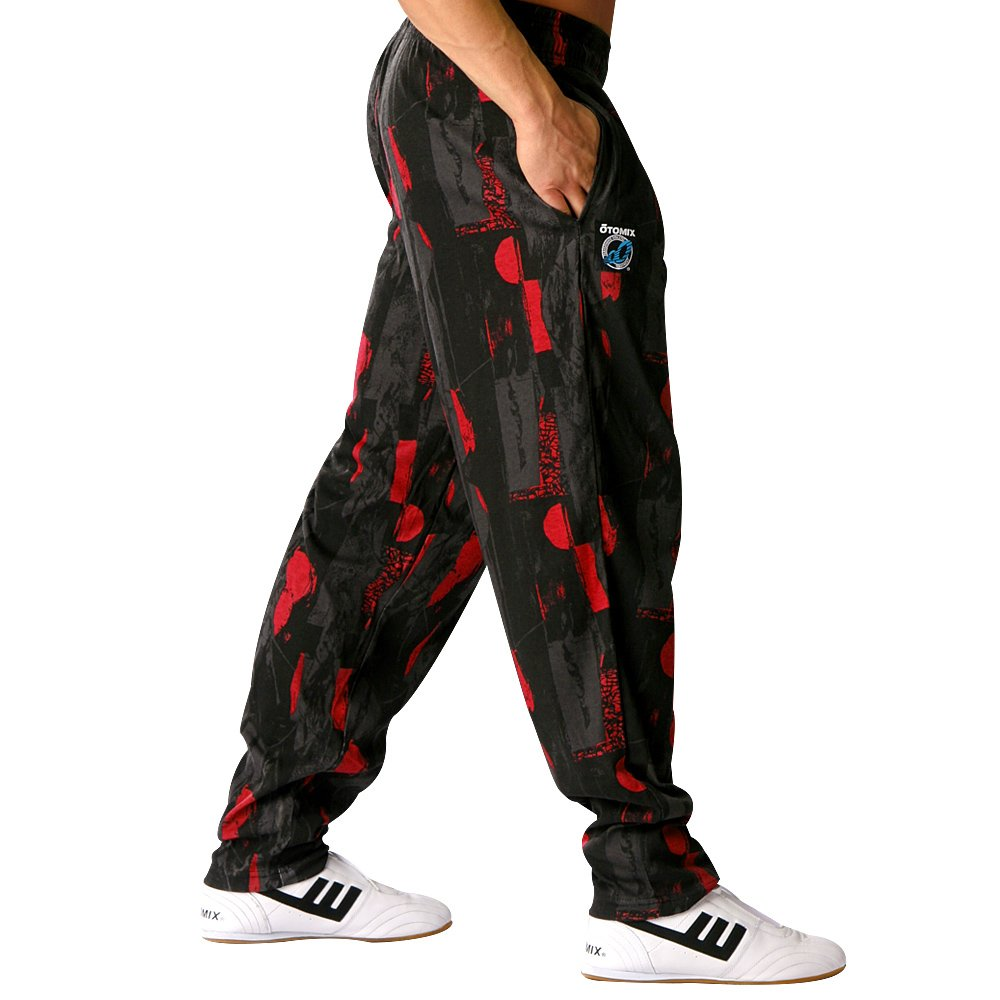 Otomix Men's Midnight Lazer Baggy Workout Pants (Black Red) 500LAZER
