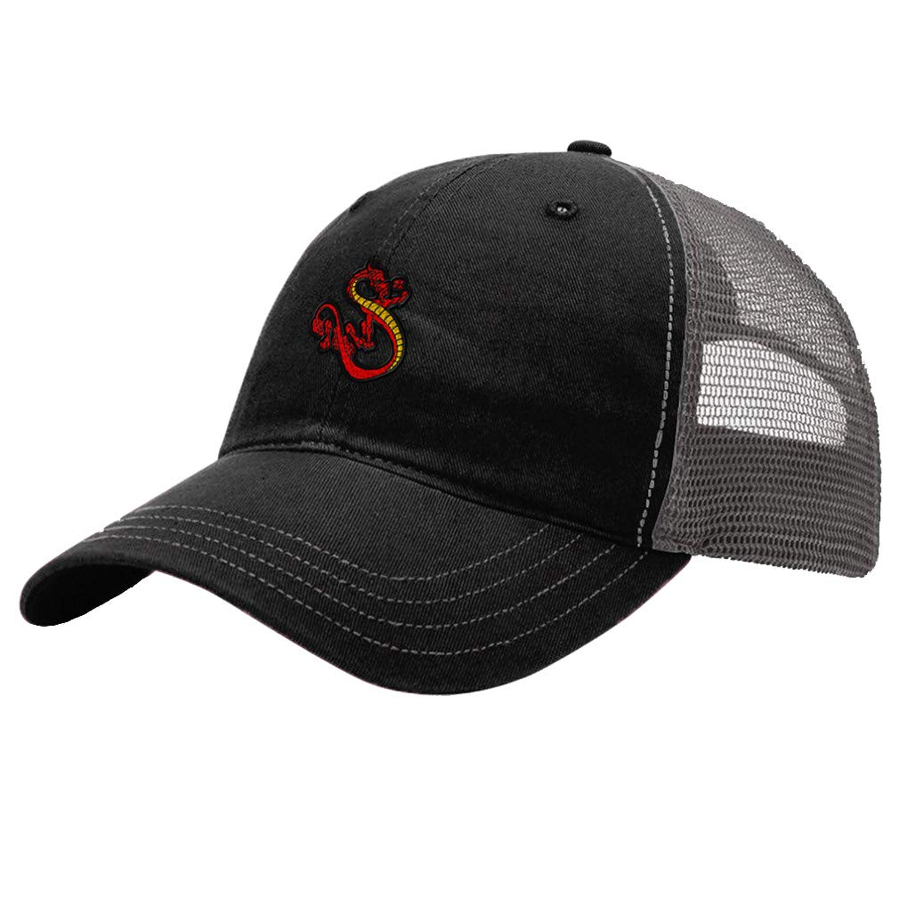 Custom Trucker Hat Richardson Chinese Dragon A Embroidery Design Cotton Snaps