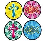 Bargain World Nylon Faith Flying Discs (With Sticky Notes)