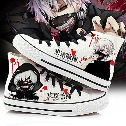 Tokyo Ghoul Kaneki Ken Cosplay Schoenen Canvas Schoenen Sneakers Zwart / Wit Wit 1