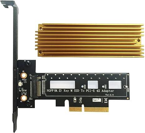 PCI Express to 4 x NGFF M.2 Key-B Expansion Card Adapter