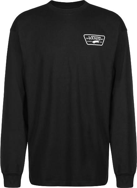 Vans Hombre Camiseta con Manga Larga de Parche Completo, Negro: Amazon.es: Ropa y accesorios