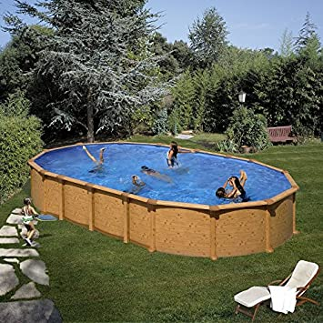 Unbekannt Gre Kitprov7388wo Pool Oval System Omega Dekoration Holz