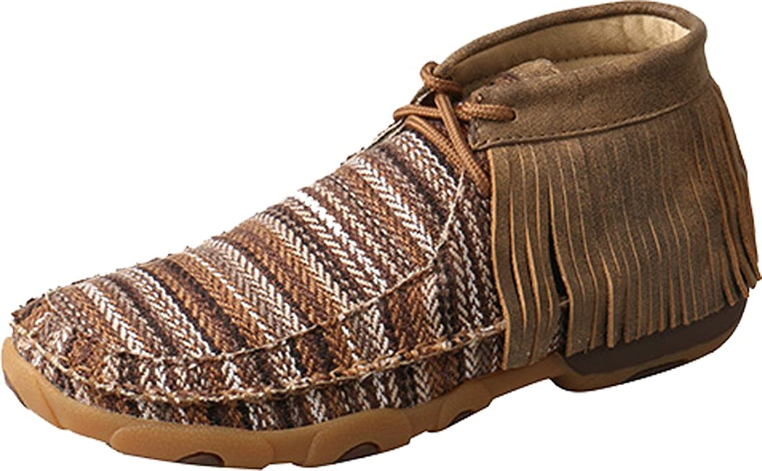 Twisted X Women's Driving Moccasin Shoes Moc Toe
