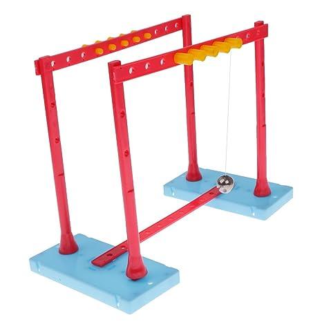 MagiDeal Boules D équilibre Pendule Newton Berceau DIY Physique  Scientifique Cadeau Jouet éducatif Amusant 327e43162b08