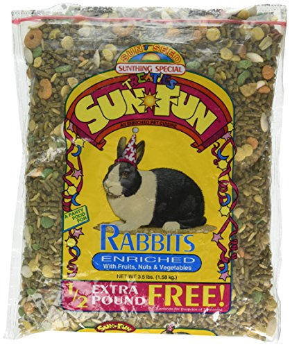 Sun Seed Company SSS44611 6-Pack Sun Fun Daily Diet Rabbit Food, (Rabbit Sun Fun Mix)