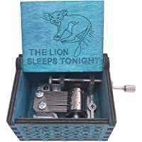 Youtang Music Box Hand Crank Musical Box Carved Wood Musical Gifts,Play The Lion Sleeps Tonight