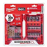Milwaukee Shockwave Impact Drill and Drive Driver Bit Set (45-Piece) 48-32-4009 Reviews