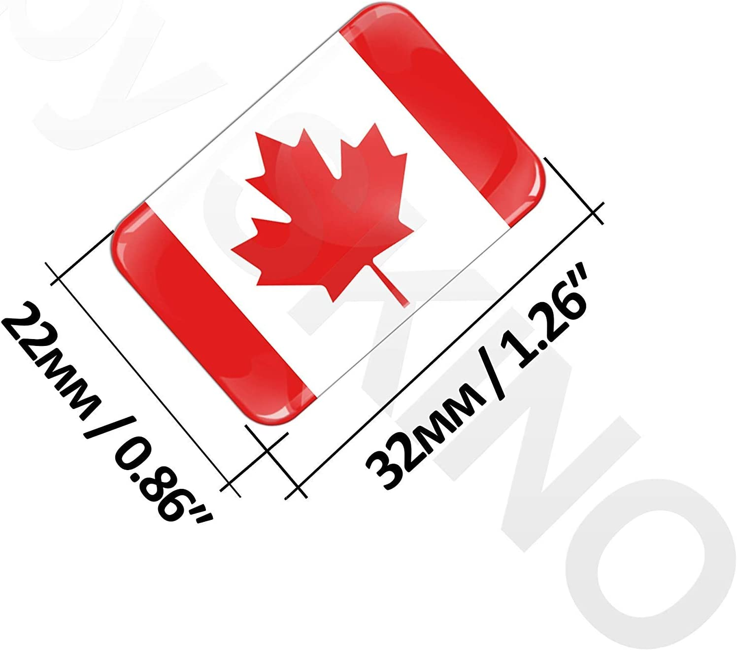 2 x 3D Domed Silicone Stickers Decals Canada National Canadian Flag Car Motorcycle Helmet F 40