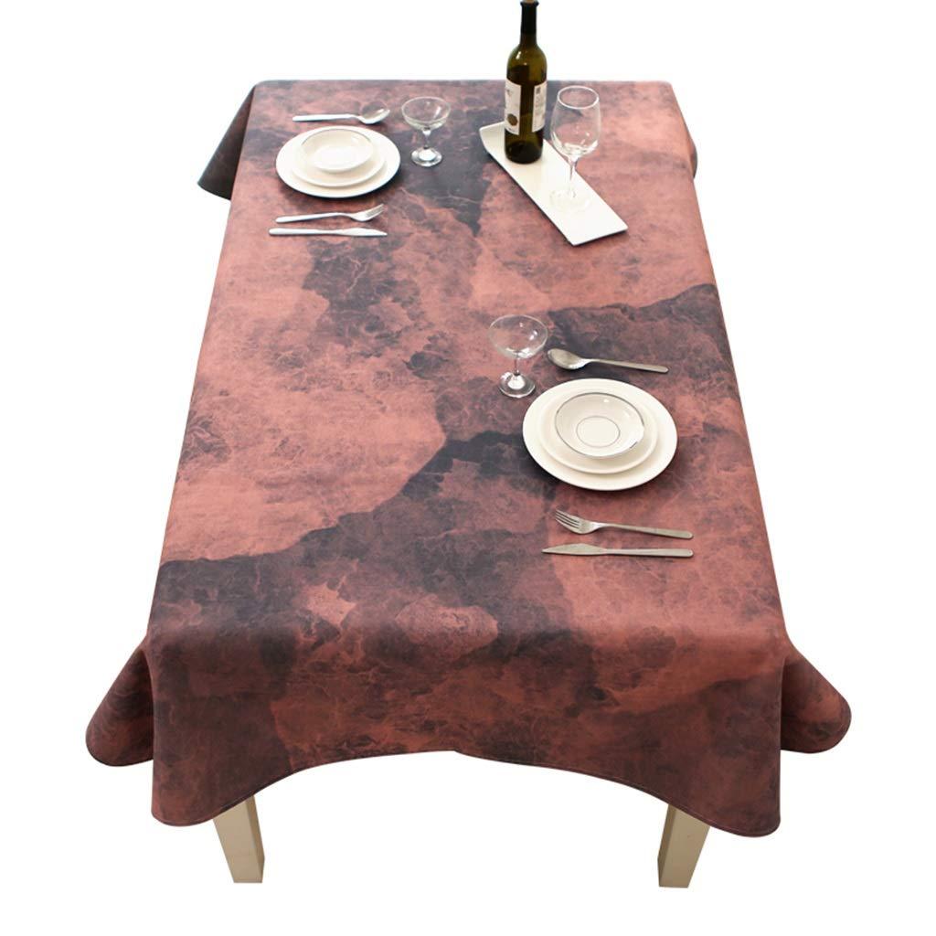 ラウンドテーブルクロス 長方形のテーブルクロスシンプルで小さな新鮮な牧歌的な綿とリネン家庭用レストランのコーヒーテーブル防塵テーブルクロス テーブルクロス (色 : B, サイズ さいず : 140*230cm) 140*230cm B B07RXW83J7