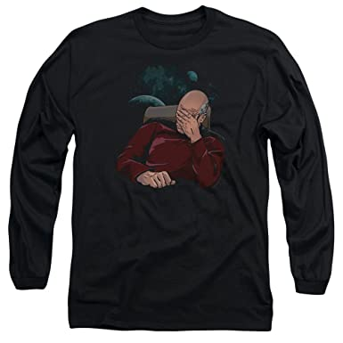 176b7b0e Amazon.com: Star Trek TNG Next Gen Captain Picard FACEPALM Long ...