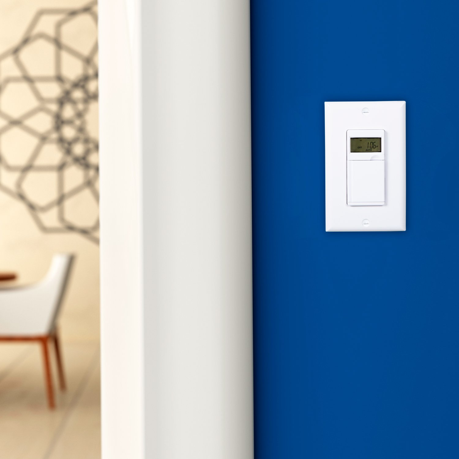 Maxxima Digital In Wall 7 Day Programmable Timer Light Switch Up To 3 Way 18 On Off Settings Adjusts For Daylight Savings Time Compatible