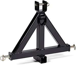 """Titan Attachments Heavy Duty 3 Point 2"""" Receiver Trailer Hitch Category 1 Tractor Tow Drawbar Pull"""