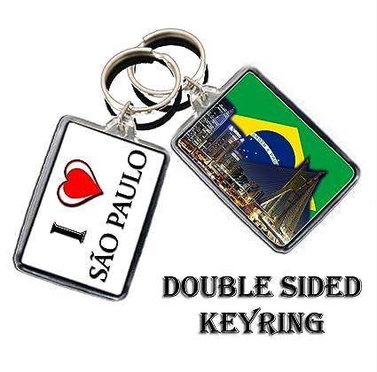 Amazon.com : I HEART BRAZIL SÃO PAULO KEYCHAIN KEYRING ...