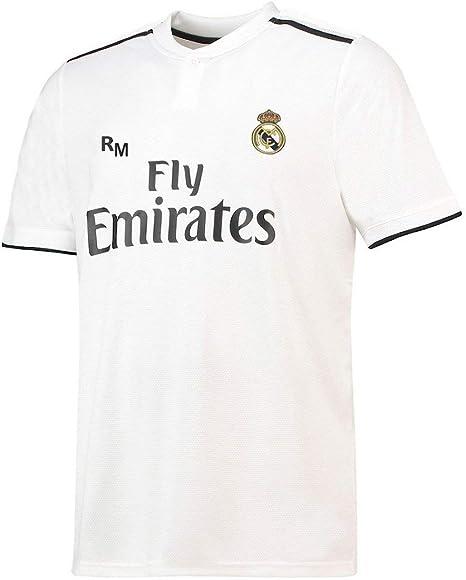 Real Madrid Camiseta Adulto Sin Dorsal. Réplica Oficial de la Primera Equipación Temporada 2018-2019 - Talla XL, Blanco: Amazon.es: Deportes y aire libre
