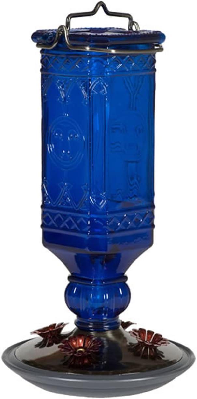 Perky-Pet 8117-2 Cobalt Blue Antique Bottle Hummingbird Feeder, 16 Ounce - 100514993,Medium