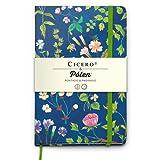 Caderneta Cicero & Pólen Floral Desirée Feldmann Pontada 80 g/m² 14,0 x 21,0 cm com 160 Páginas Cicero