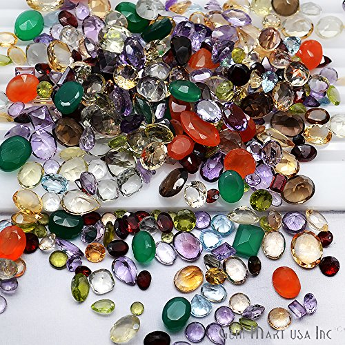 1500+ Carats Loose Mixed Gems Wholesale Lot. Natural Faceted Semi Precious Gemstones. Gemmartusa loose Gemstone by GemMartUSA Loose Gemstone (Image #4)