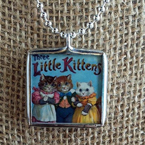 Mother Goose Three Little Kittens and Humpty Dumpty Vintage Art Soldered Glass Pendant Charm (Nursery Rhyme Costumes Ideas)