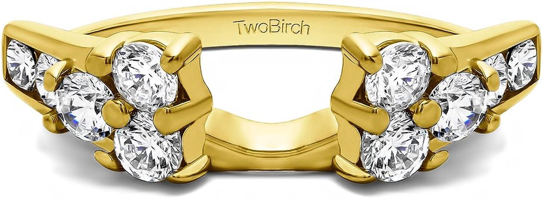 18 K Gold Ring Wrap Set mit Diamanten 1 CT. wanderfeldröhre