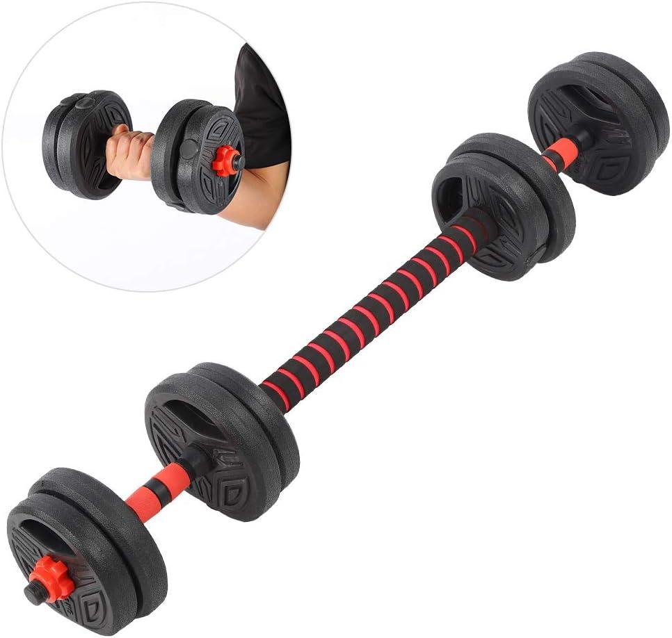 /équipement de Fitness 10 kg avec bielle de 40 cm Ejoyous Ensemble dhalt/ères innovant 2 en 1 halt/ères et halt/ères
