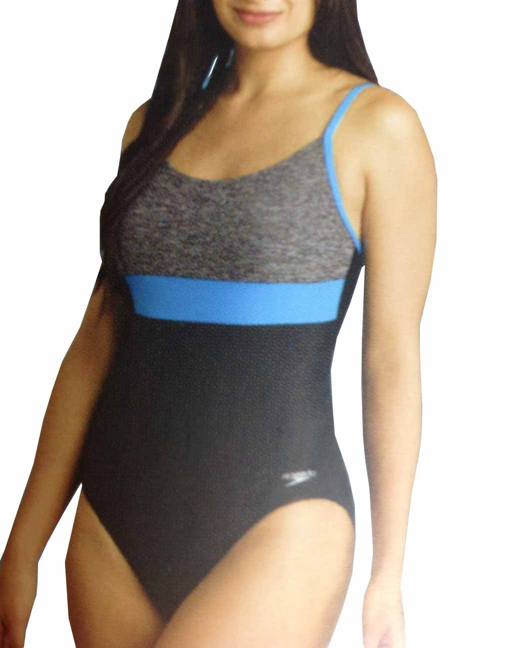 Speedo Women's Ultraback Racerback Athletic Training One Piece Swimsuit (Heather Grey, 16)