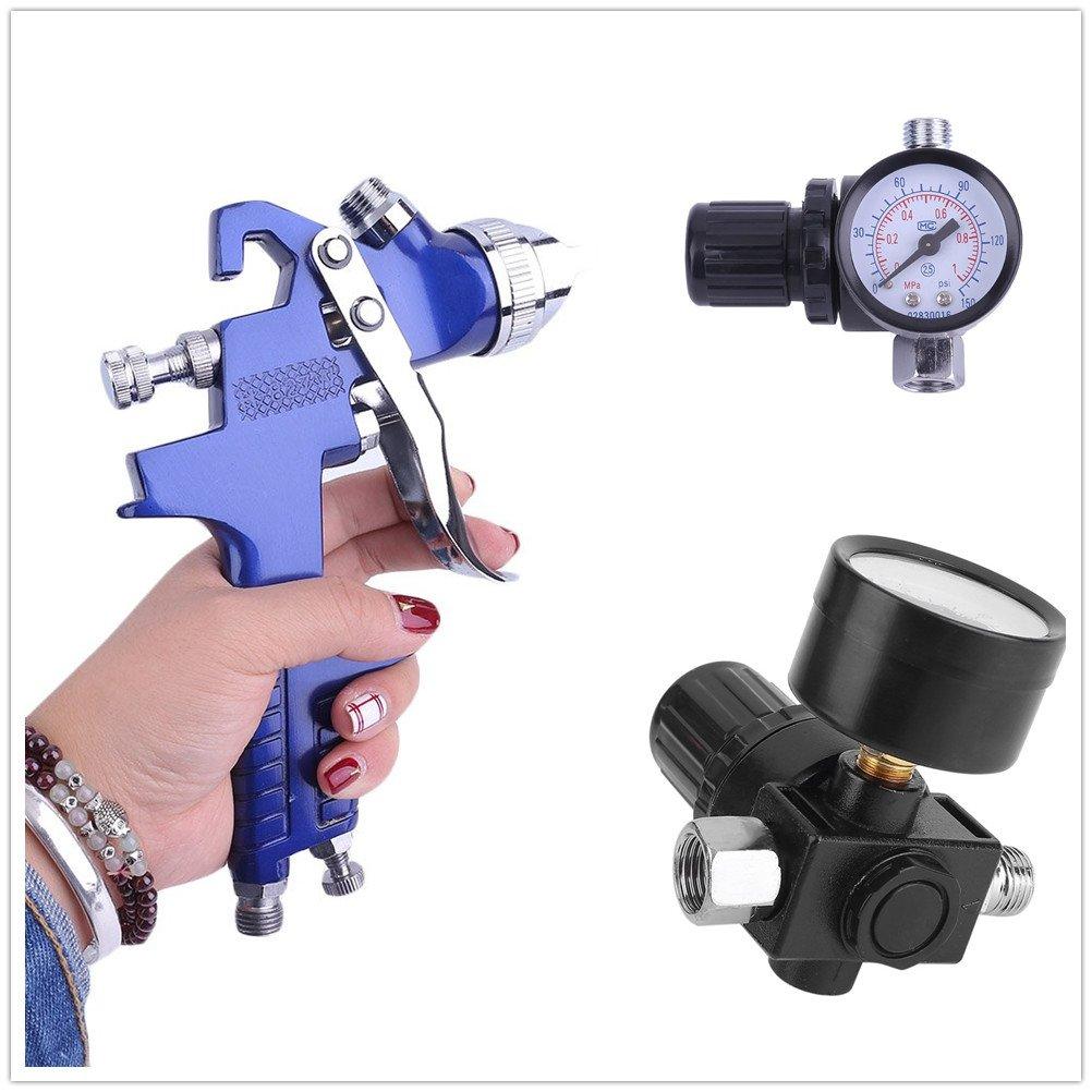 Coffret 1,4/mm 0,8/mm Outils et 2/mugs manom/ètre 2/x HVLP BDLLP0.8/Pistolet /à