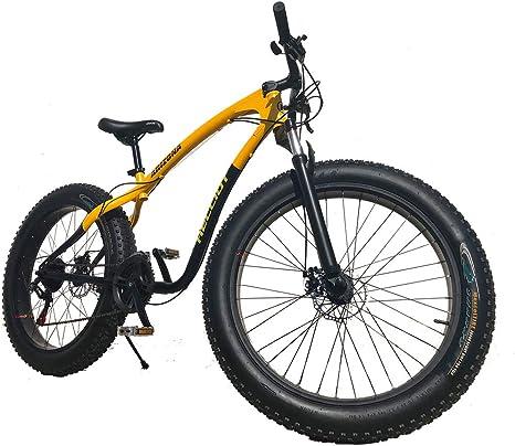 All-Bikes Fat Bike, Bike, Mountain Bike, Bicicleta de montaña, Shimano, Amarilla: Amazon.es: Deportes y aire libre