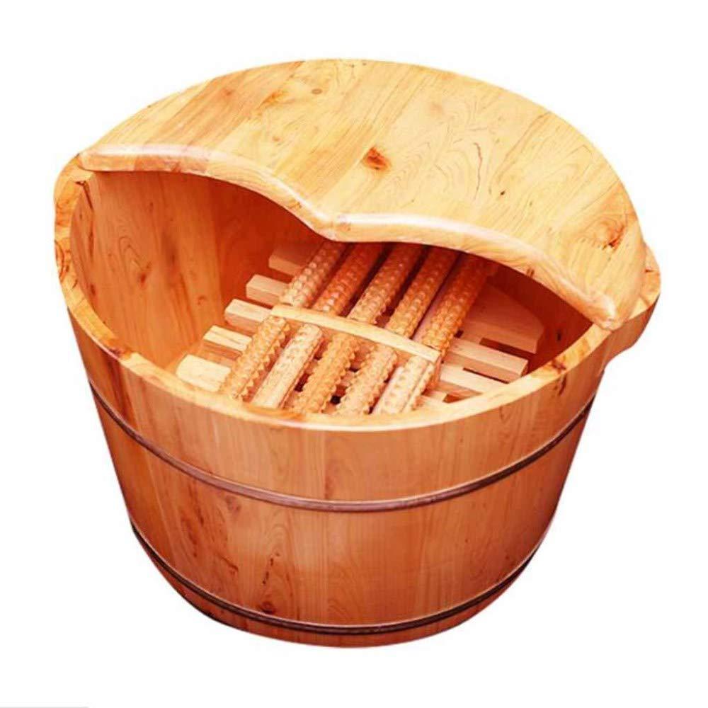 ZCXCC Piedi Bacino di Legno del Piede Piedi Vasca da Bagno Barile Ispessimento Domestico Utilizzato per Anziani E di Legno Dono Pedicure Bowl Casa La Salute dei Bambini