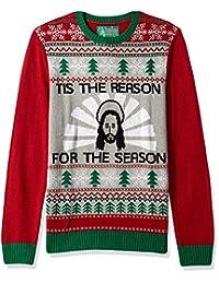 Ugly Christmas Sweater Company suéter para Hombre con diseño de Jesus-Tis la razón de la Temporada
