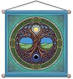 "15"" X 15"" Tree of Life Mandala Meditation Banner"