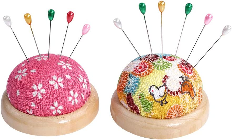 Straight Pins with Pin Cushion 200 Premium Glass Head Multicolor Sewing Straight Pins