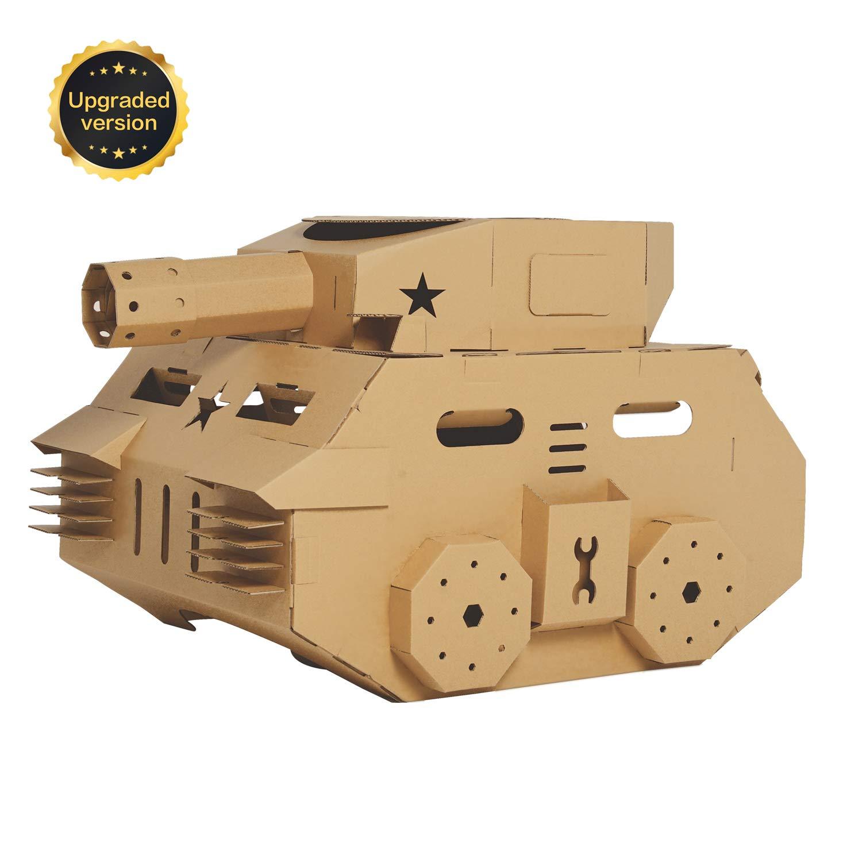 Surdoca Cardboard Playhouse Tank Play And Colour Tank