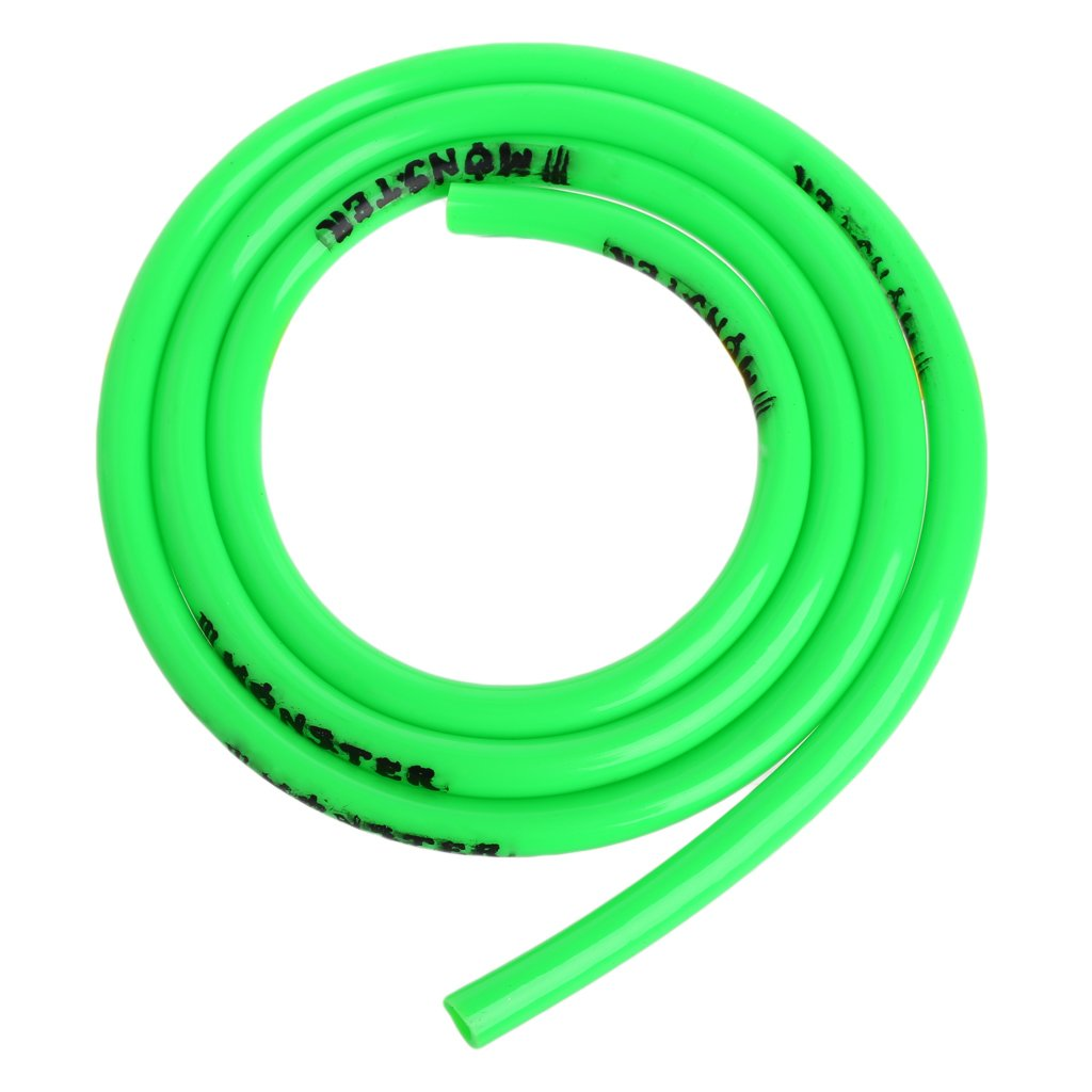 Motorcycle Fuel Line Hose, 1m Fuel Gas Oil Delivery Tube Hose Petrol Pipe 5mm I/D 8mm O/D (Green)
