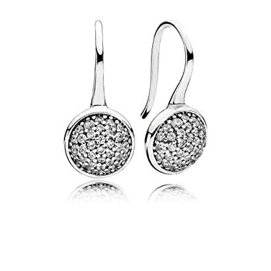 214cbfe8a Amazon.com: Pandora Dazzling Droplets Silver Drop Earrings With Clear CZ  290734CZ: Jewelry