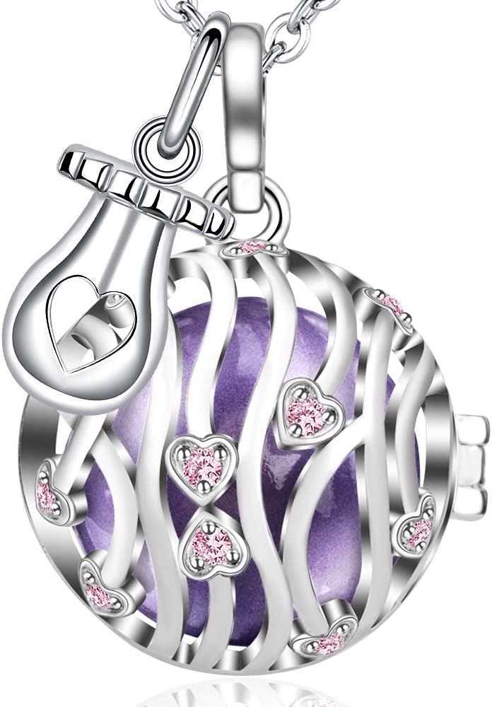 💗 MAMAE - Bola Embarazo Collar Colgante Joya Musical Harmony Ball