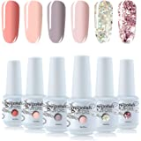 Vishine Gel Nail Polish Sets 6 Pretty Colors UV LED Soak Off Gel Nail Polish Set Manicure Varnish Gift Set